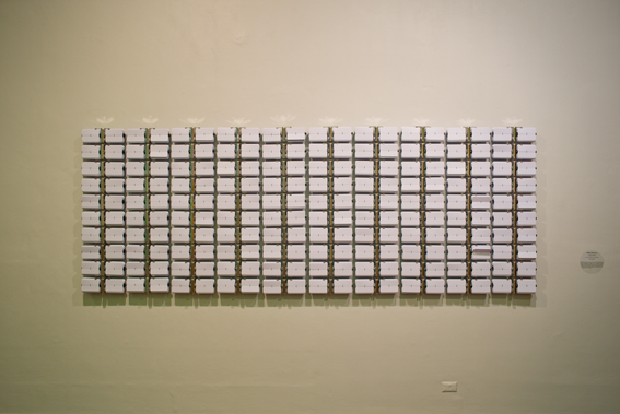 Rebecca Baumann, Automated Colour Field (White on White), 2012. First Amongst Equals II, Perth Institute of Contemporary Arts. Photo Tony Nathan